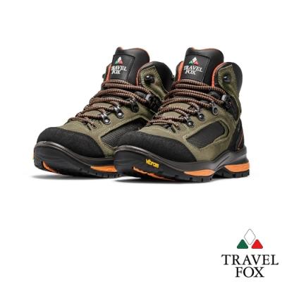TRAVEL FOX(女) 風動登山越野防水禦寒防震專業戶外登山鞋 -棕