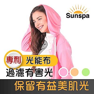 Sunspa 真 專利光能布 UPF50+ 遮陽防曬 濾光 連帽外套