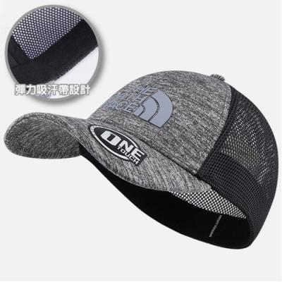 The North Face 新款 超輕透氣棒球帽.遮陽帽.鴨舌帽.運動帽_灰 N