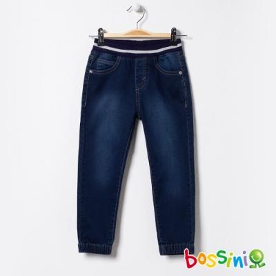 bossini女童-彈性束口牛仔褲01牛仔藍