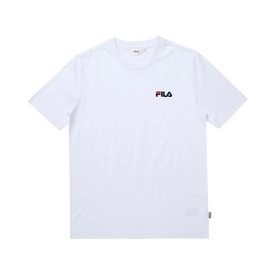 FILA 圓領上衣-白 1TEU-1504-WT