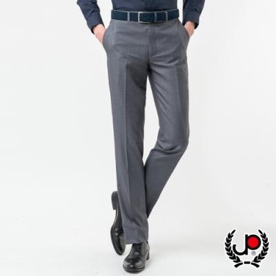 極品名店 展現品味仿毛平面西裝褲_淺灰(BW869-1)