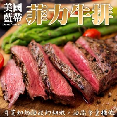 【海陸管家】美國藍帶菲力牛排5片(每片約150g)