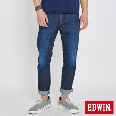 EDWIN EDGE LINE 大尺碼  漸層袋花 窄直筒牛仔褲-男-原藍色