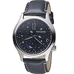 姬龍雪Guy Laroche Timepieces星空月相時尚錶(GW2007-09)