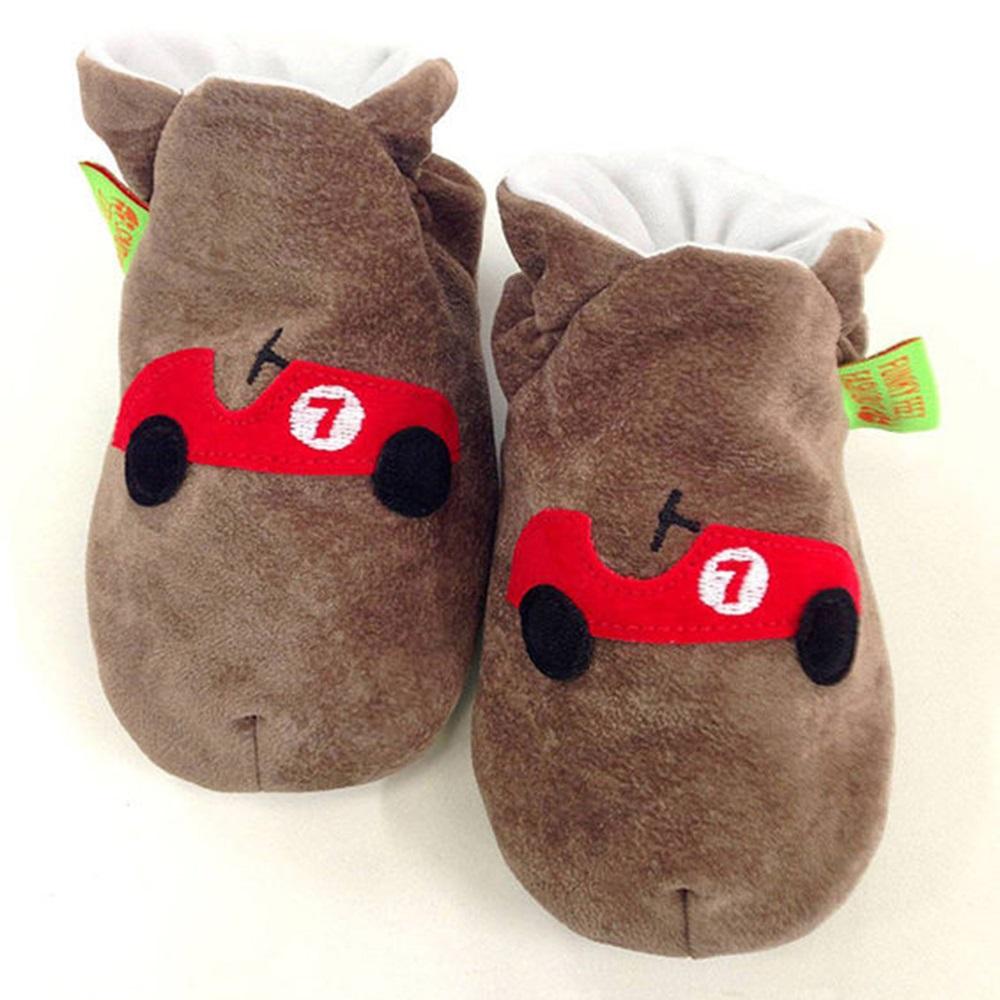 英國 Funky Feet 手工學步鞋 室內鞋 紅色跑車 6-24M