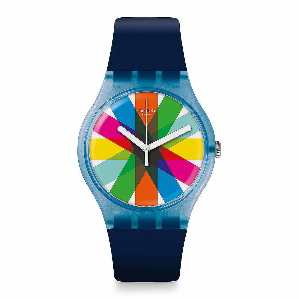 Swatch THINK FUN系列 GRAFTIC 色塊撞擊手錶
