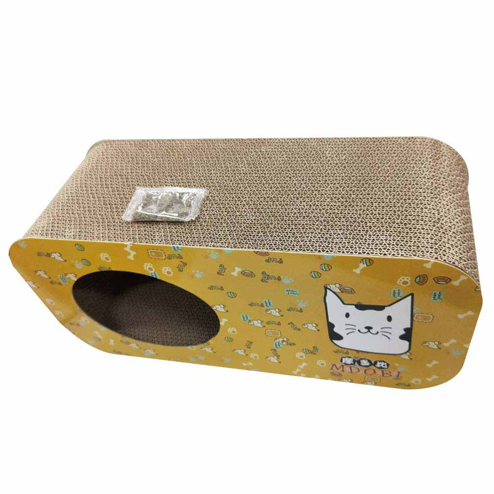 MDOBI摩多比-貓丸家 瓦楞紙 貓抓板-長型躲貓洞洞屋