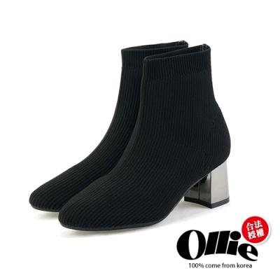 Aviator韓國空運-獨家款暗黑系襪套短靴-ollie預購