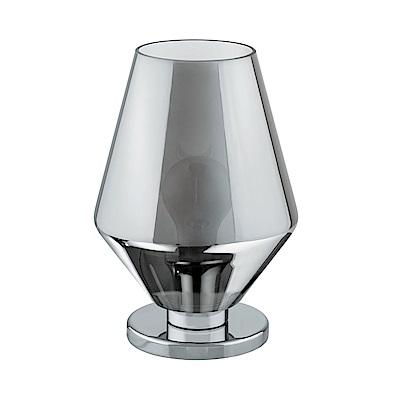 EGLO歐風燈飾 現代銀玻璃燈罩檯燈/床頭燈(不含燈泡)
