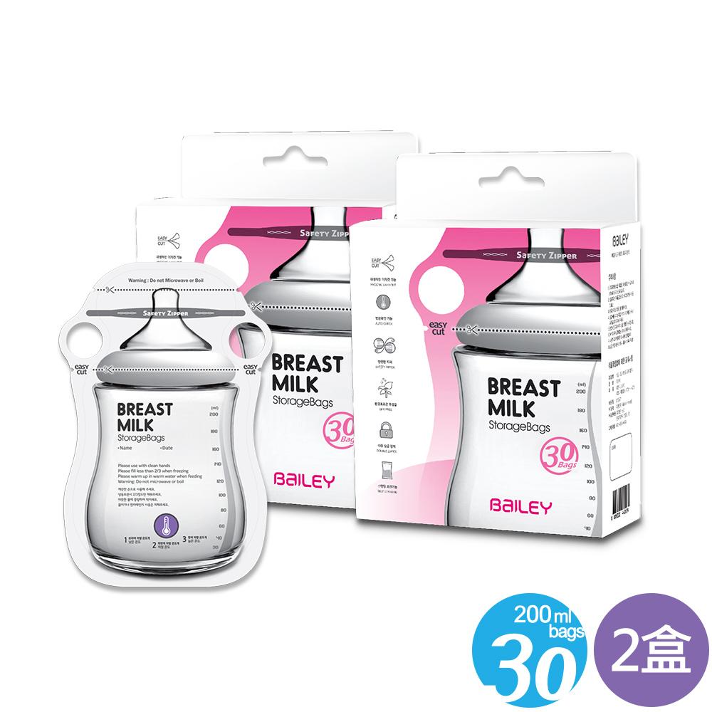 韓國BAILEY貝睿 感溫母乳儲存袋-指孔型30入(2盒) @ Y!購物