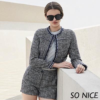 SO NICE俏麗質感粗花呢外套