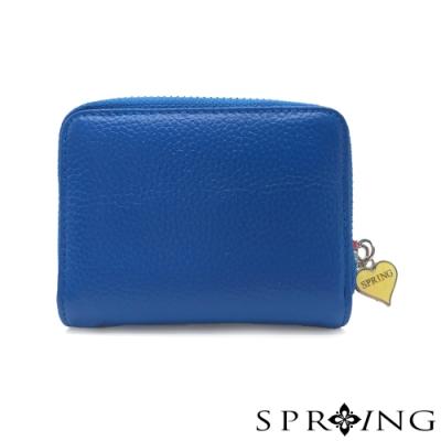 SPRING-低調的三層多用鑰匙零錢包-夢境藍