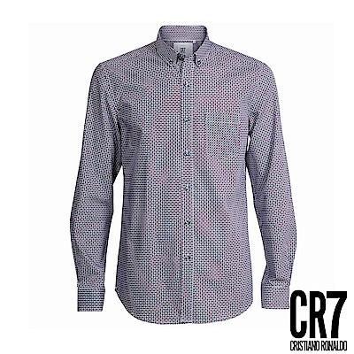 CR7-Slim Fit 藍紅大點襯衫(8649-7200-322)