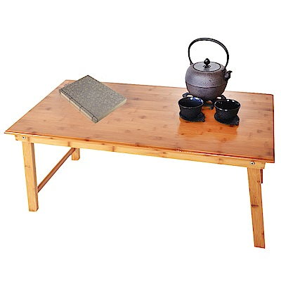 WASHAMl-楠竹折疊和室桌電腦桌(大號85CM)