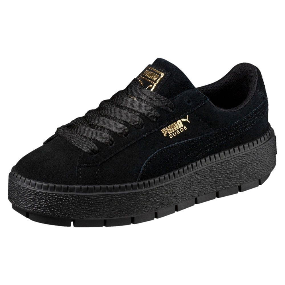 PUMA-Platform Trace 女性復古休閒鞋-黑色