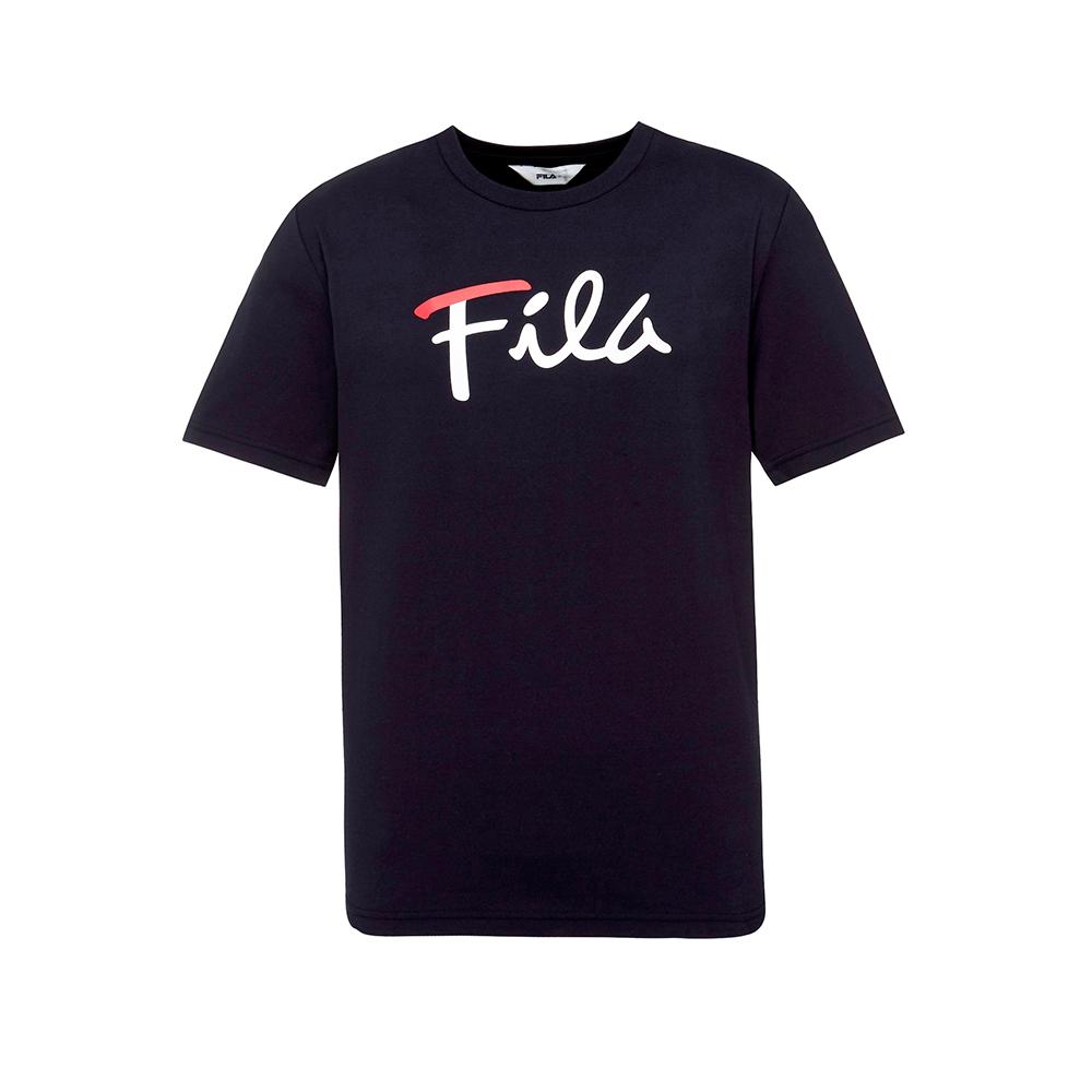 FILA  男款短袖圓領T恤-丈青 1TET-1502-NV