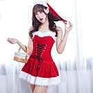 中大碼聖誕裝 M-XL性感聖誕服 聖誕節服裝 派對服表演服含聖誕帽 流行E線