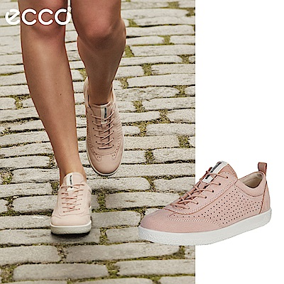 ECCO SOFT 1 W 極簡舒適休閒鞋 女-粉紅