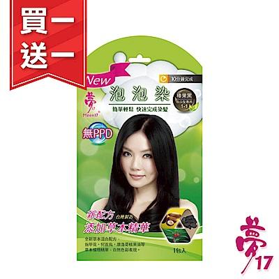 (買一送一) 夢17 泡泡染髮乳(草本)榛果黑1包入