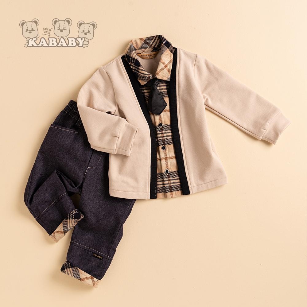 【金安德森】KA經典配格小領帶男套裝(共二色)