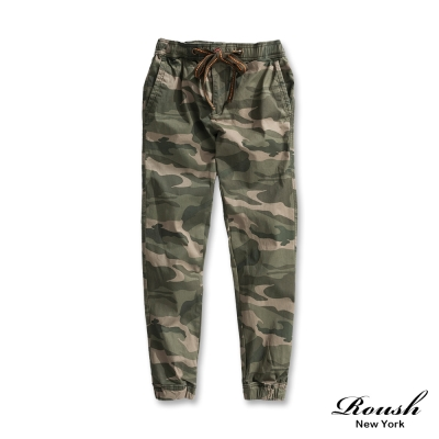 ROUSH 高磅數迷彩水洗束口長褲 (2色)