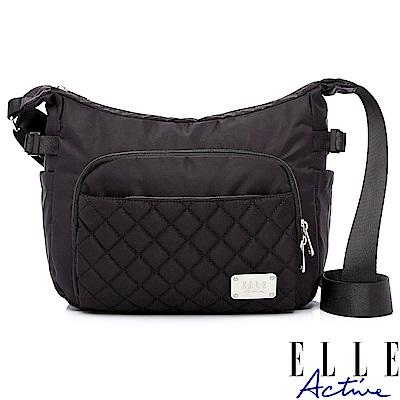 ELLE Active 生活印記系列-側背包/斜背包-大-黑色