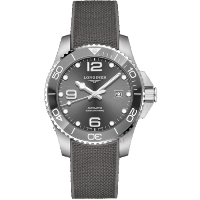 LONGINES浪琴深海征服者陶瓷潛水機械錶(L37824769)-灰