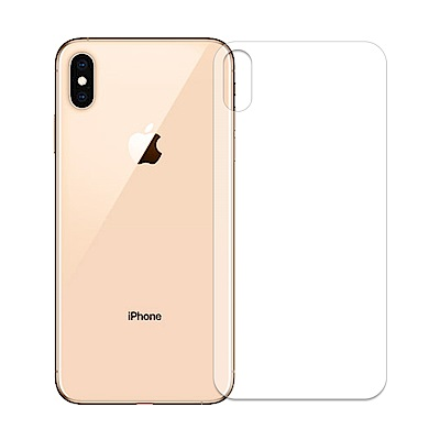 【SHOWHAN】iPhone Xs Max 金剛水靈膜軟膜背貼(附刮卡)