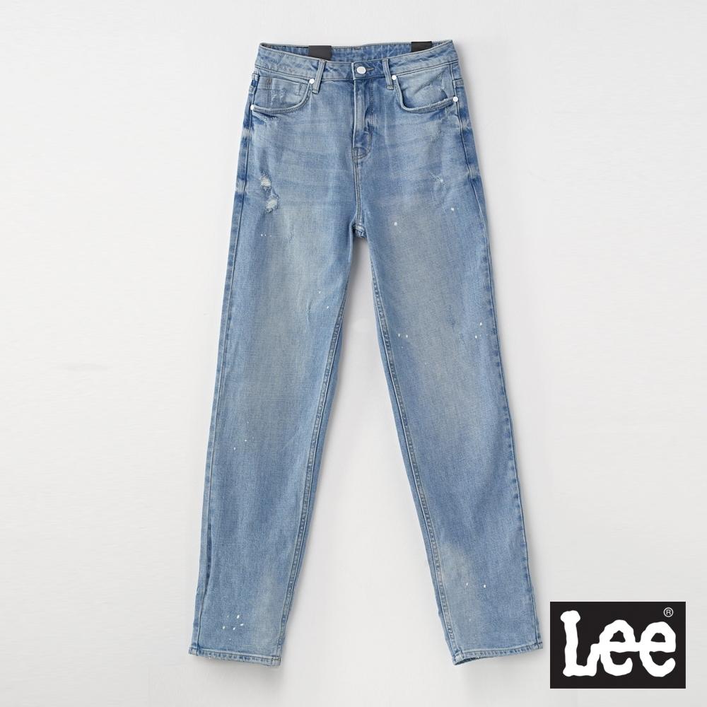 Lee 411 高腰標準合身小直筒牛仔褲 UR 女款 淺藍