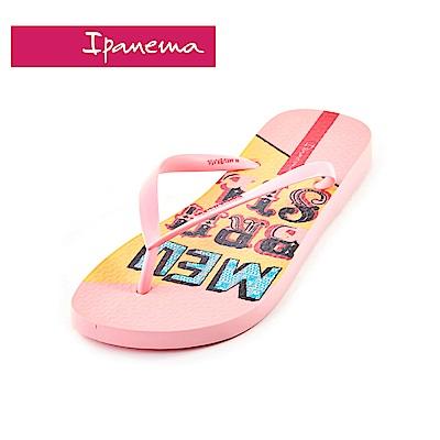 IPANEMA MEU BRASIL印花系列 熱帶花園 人字拖鞋(女款)-粉色