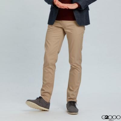 G2000斜紋休閒5袋長褲-卡其色