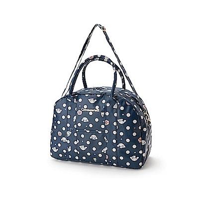 Sanrio 大耳狗喜拿防潑水加工輕量旅用提背袋/波士頓包(俏麗點點)