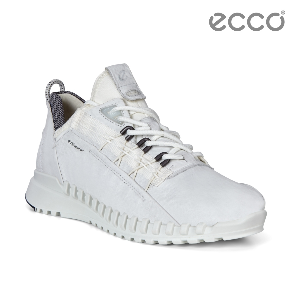 ECCO ZIPFLEX W 酷飛運動戶外休閒鞋 DYNEEMA皮革款 女鞋白色