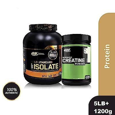 [美國 ON]金牌ISOLATE分離乳清蛋白(5磅)+肌酸1200公克