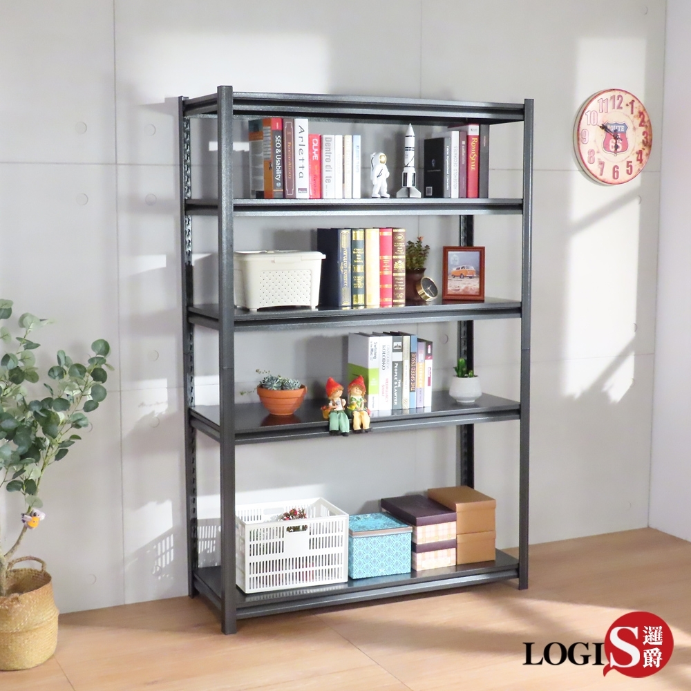 LOGIS –奧德120CM耐重工業風碳鋼收納櫃 書櫃 展示櫃 120x45x183