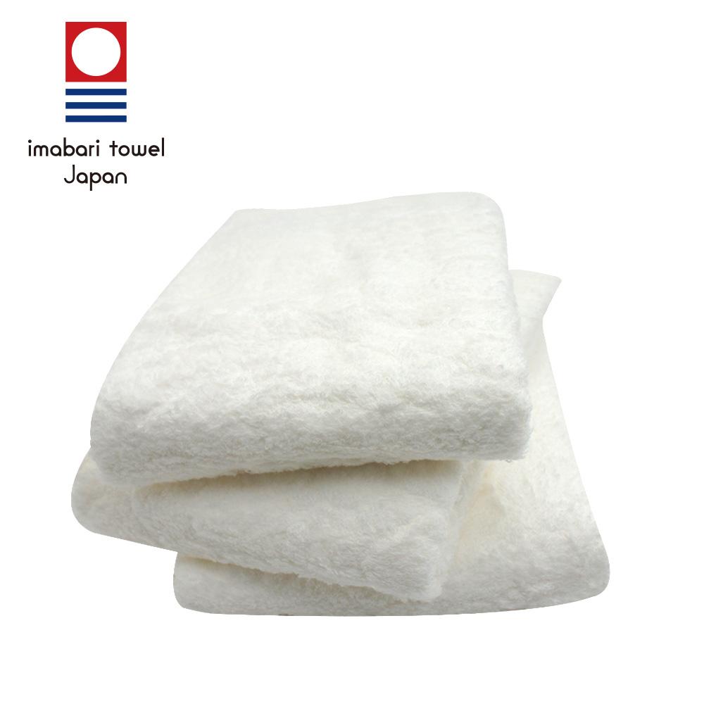 日本今治 絹綿美人極柔觸感毛巾-雪白(超值2入組)