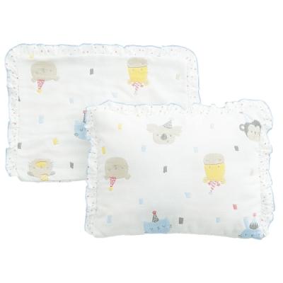 奇哥 動物派對六層紗嬰兒枕(附枕套)