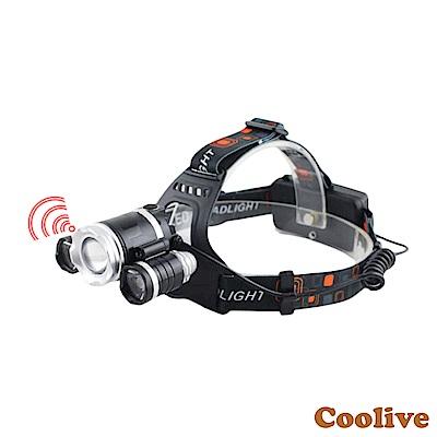 Coolive「CREE T6 LED」智慧感應強光三頭燈