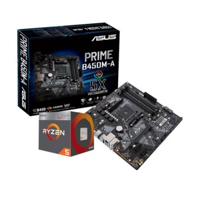 ASUS華碩 PRIME B450M-A + AMD R5 3600X 組合套餐
