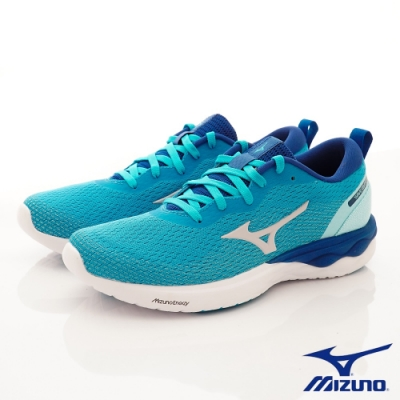 Mizuno美津濃  WAVE REVOLT慢跑鞋 208173藍綠(女款)