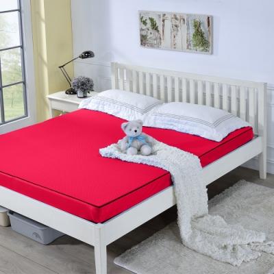 戀香 3.5X6尺單人加大舒棉厚感10CM透氣折疊式彈簧床墊(四色任選)
