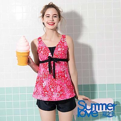 夏之戀SUMMER LOVE 大女長版三件式泳衣