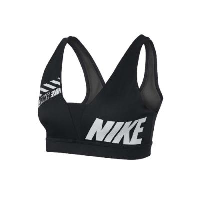 NIKE 女運動內衣-運動背心 慢跑 路跑 有氧 瑜珈 黑白