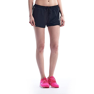 【ZEPRO】女子側邊開岔反光條運動跑褲-黑