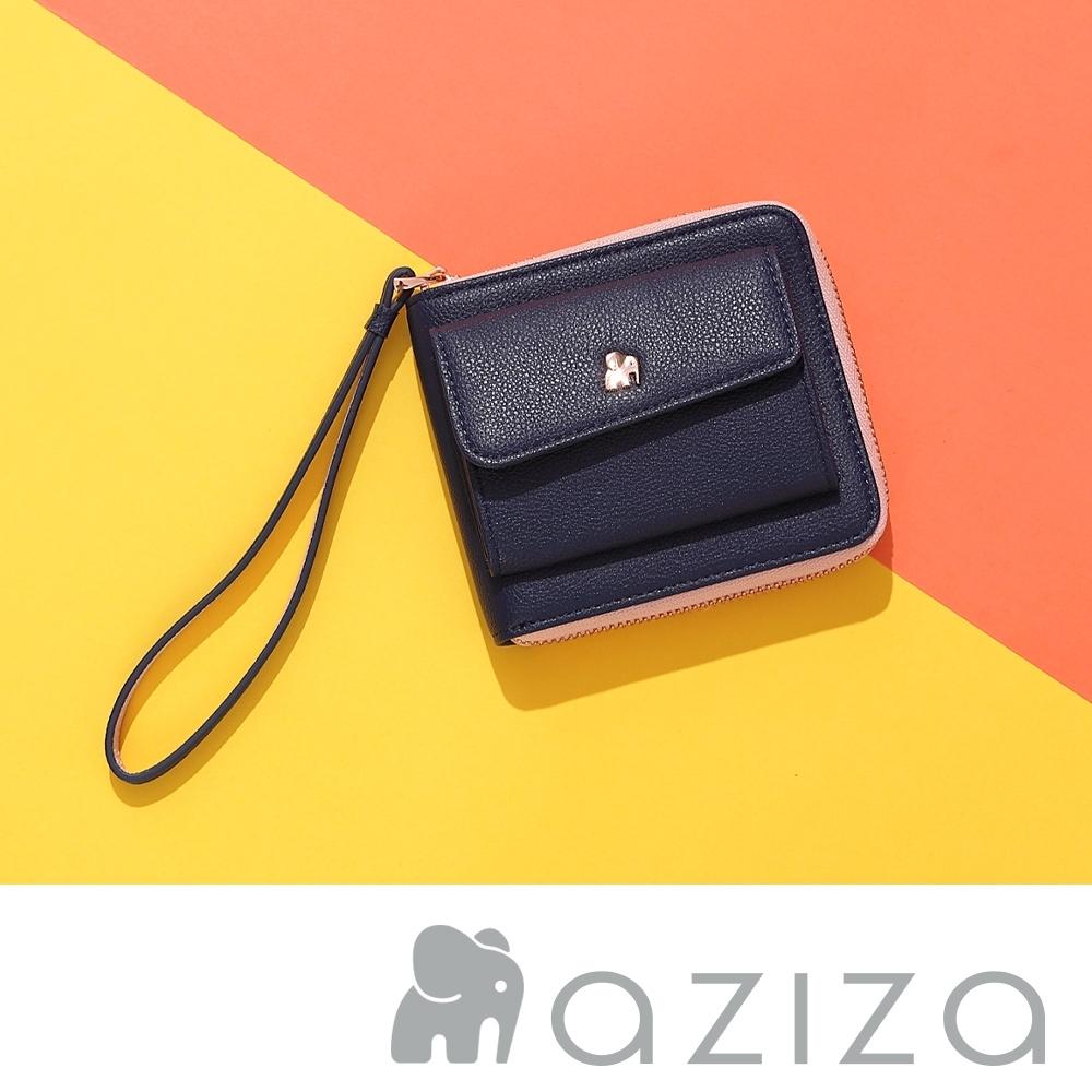 aziza AGNES手拎短夾 深藍
