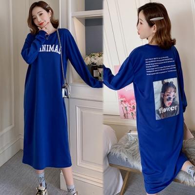 【韓國K.W.】(預購)休閒時尚感藍色洋裝-1色