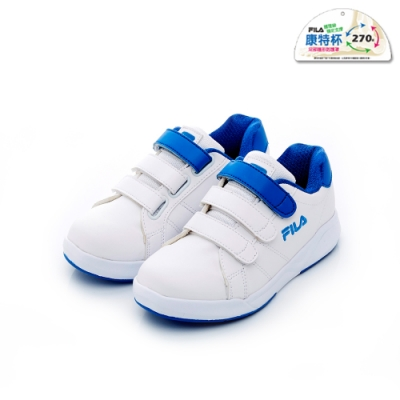 FILA KIDS 大童韓系復古鞋-白藍 3-C810T-133