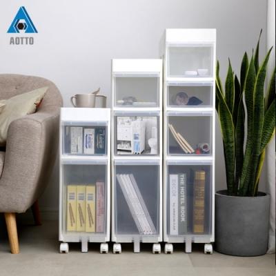 【AOTTO】21面寬附輪移動三層隙縫收納櫃 夾縫櫃