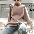 SQUA 寬鬆拼接加絨中長版上衣-(L/XL)